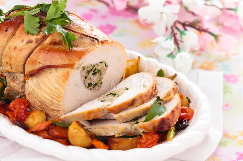 Turkey breast. royalty free stock images