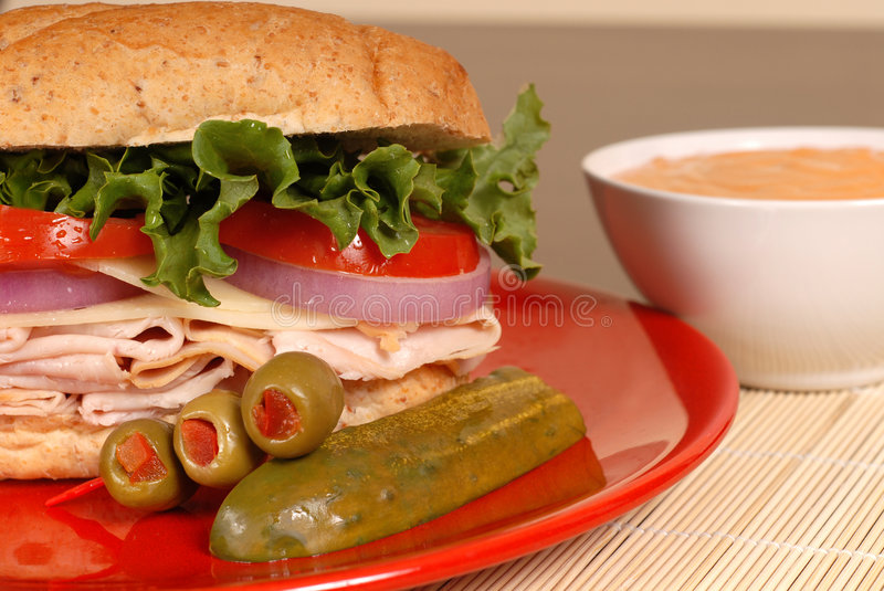 Download Turkey and cheese sandwich stock image. Image of nourishment - 2312425