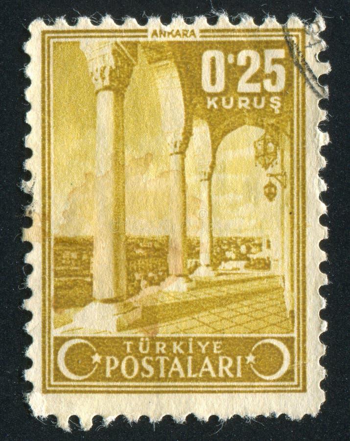 Ankara. TURKEY - CIRCA 1943: stamp printed by Turkey, shows Ankara, circa 1943 royalty free stock photos