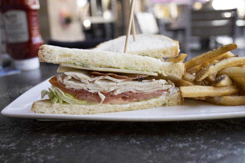 Turkey Club Sandwich royalty free stock photography
