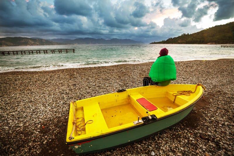 Turkey coast. Beautiful sea coast in Turkey stock photo