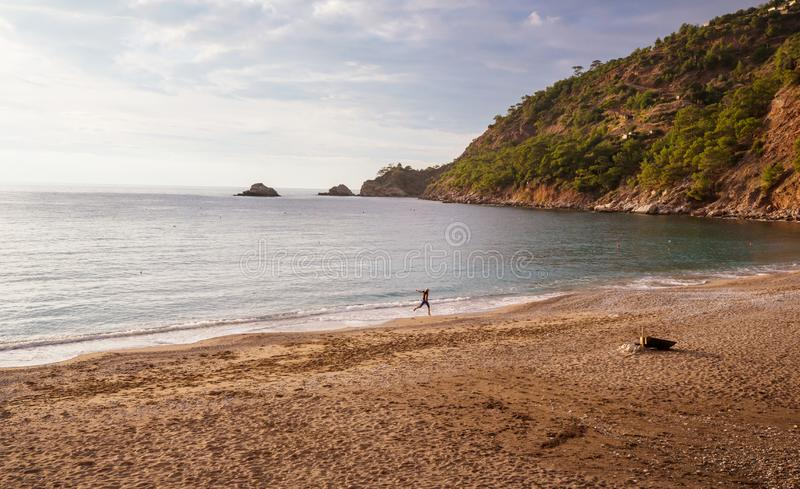 Turkey coast. Beautiful sea coast  in Turkey. Amazing natural landscapes along Lycian hiking way stock images