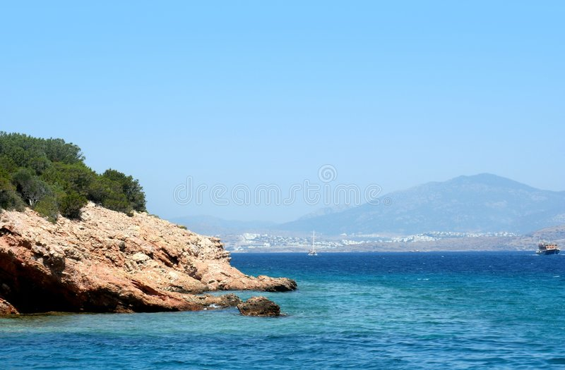 Turkey coastsea royalty free stock image
