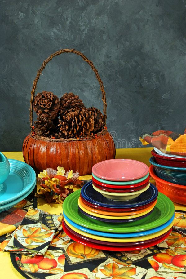 Turkey day place setting royalty free stock photos