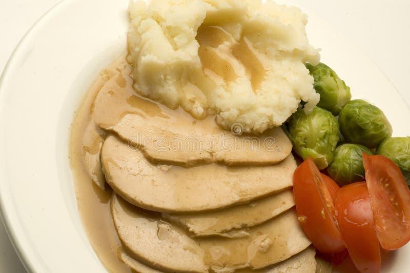 Turkey dinner stock image