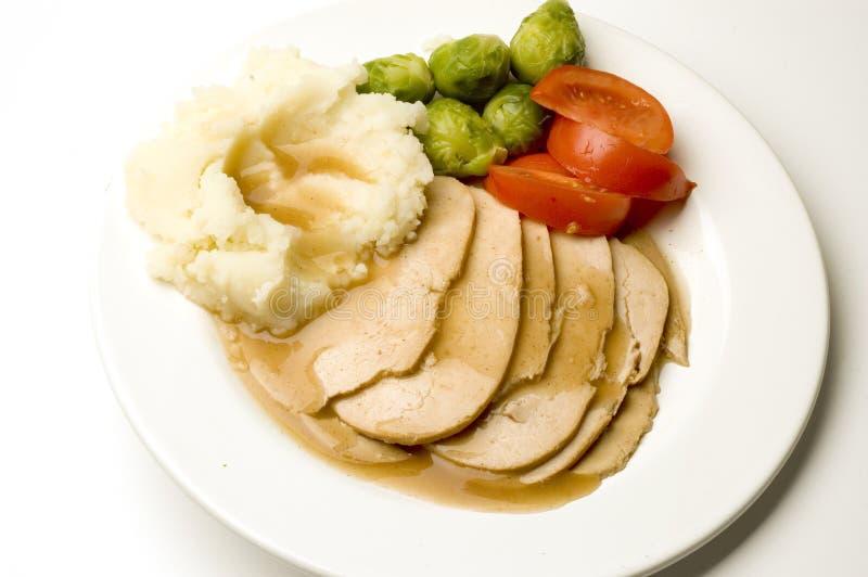 Turkey dinner stock photos