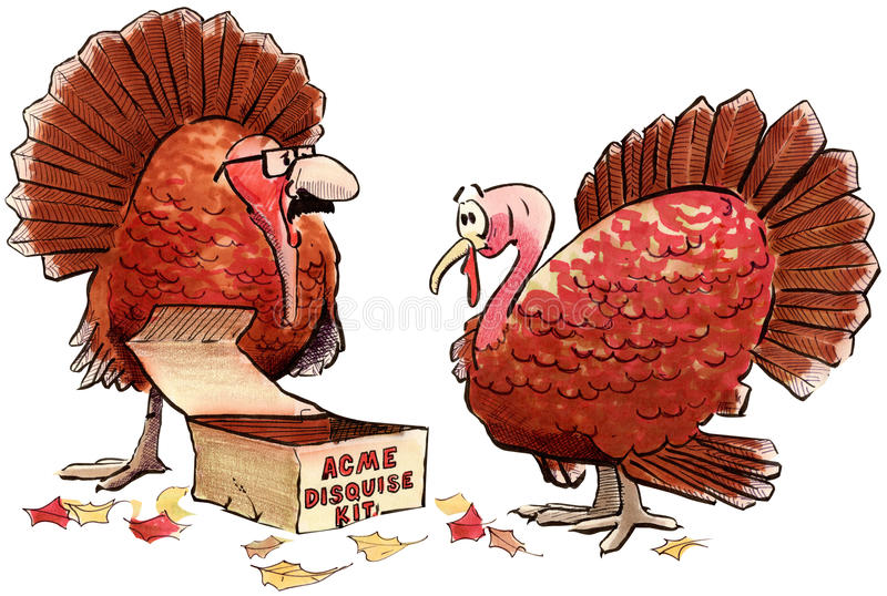 Turkey disguise royalty free illustration