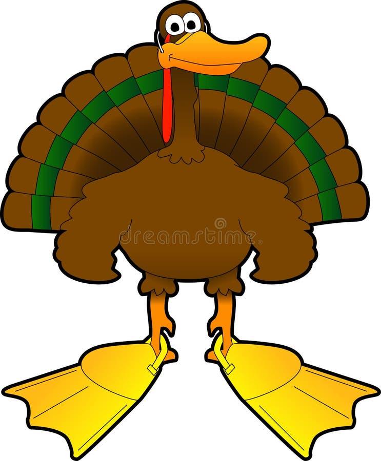 Turkey_duck illustrazione di stock
