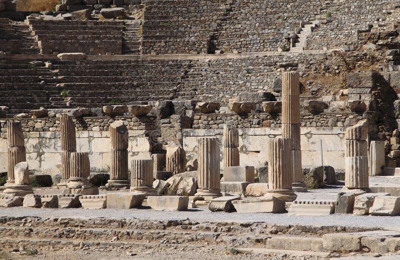 Turkey Ephesus Amphitheater Ruins Royalty Free Stock Photography