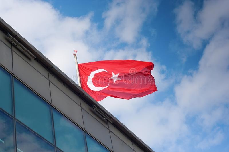 Download Turkey flag stock photo. Image of clouds, turk, half - 27825212