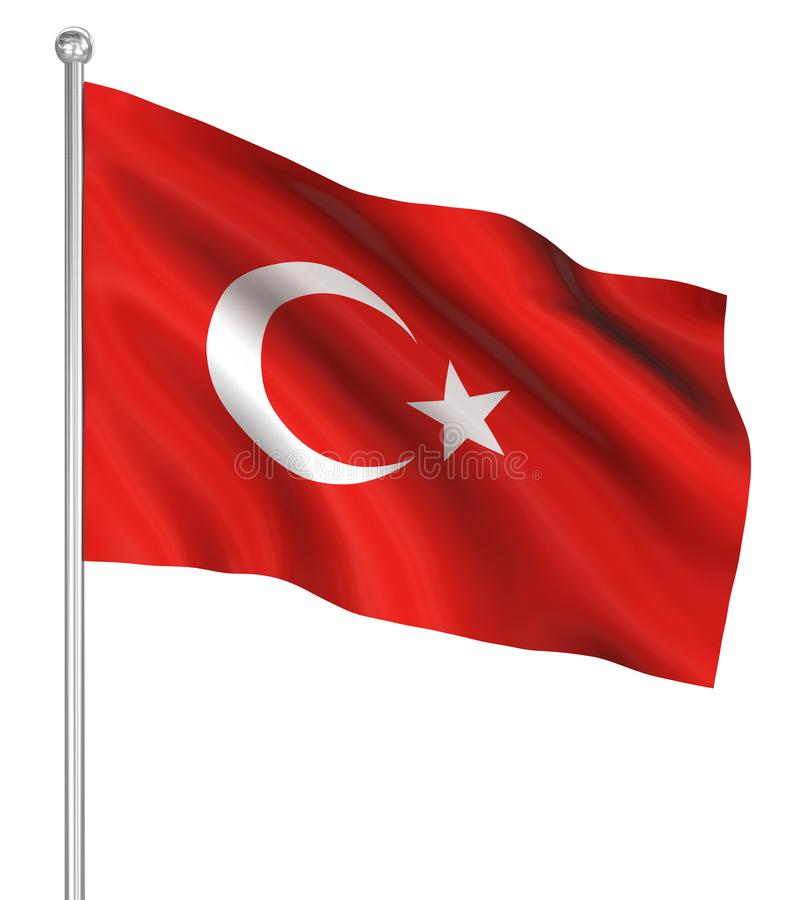 Country flag - Turkey royalty free illustration