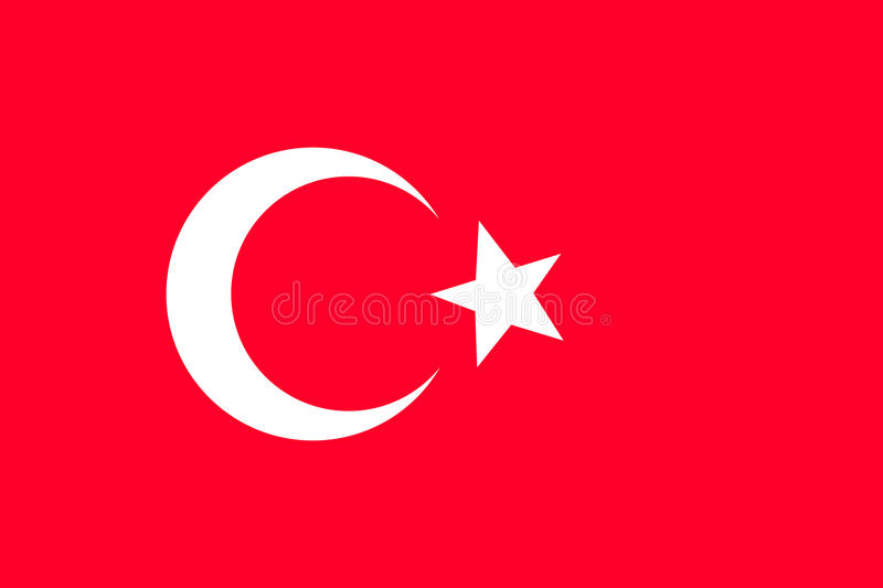 Turkey flag. stock illustration