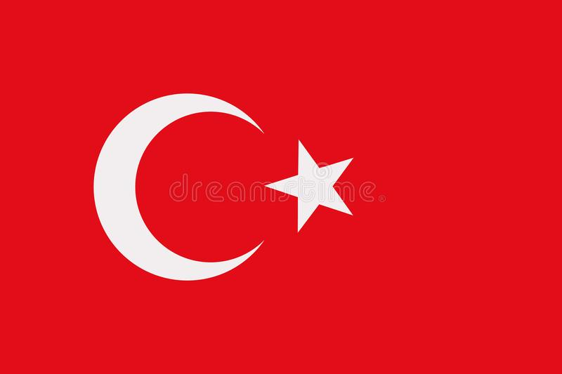 Turkey flag vector. Turkey flag turkish country vector royalty free illustration