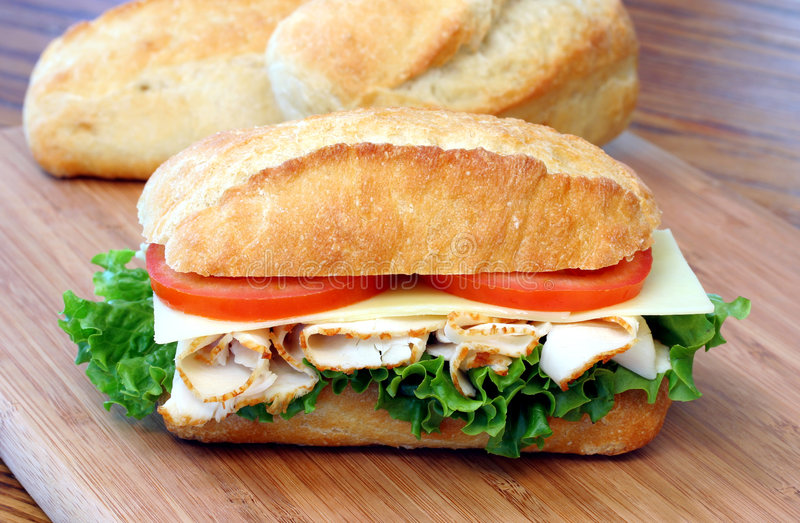 Turkey Hero Sandwich stock images