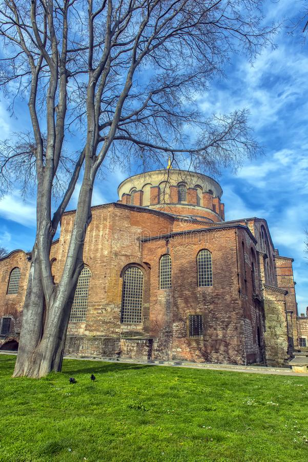 The Church of St. Irene - one of the earliest surviving churches royalty free stock photo