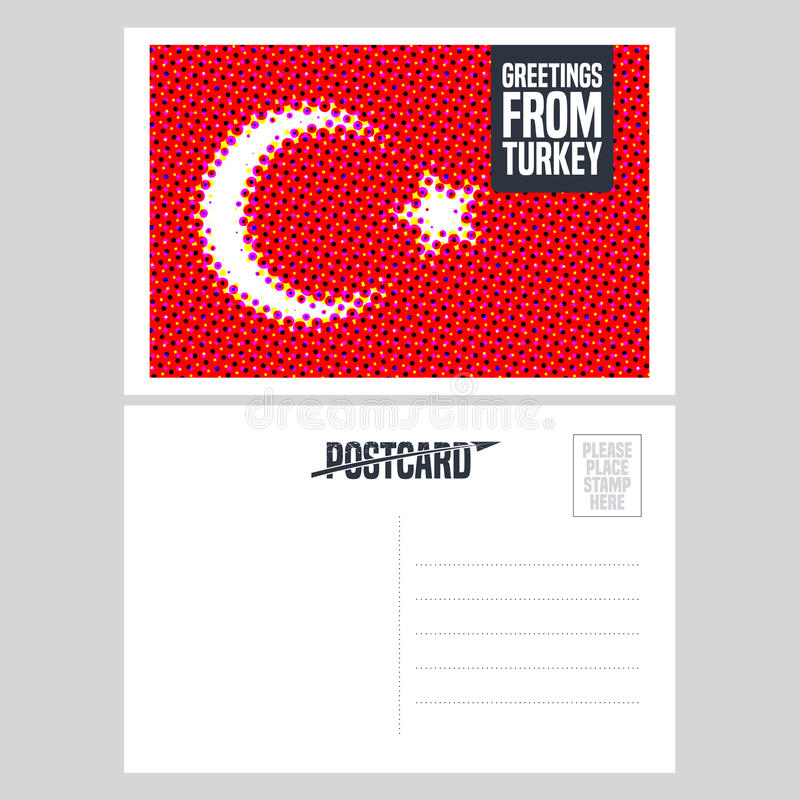 Turkey istanbul vector postcard design with turkish flag stock download turkey istanbul vector postcard design with turkish flag stock vector illustration of icon m4hsunfo