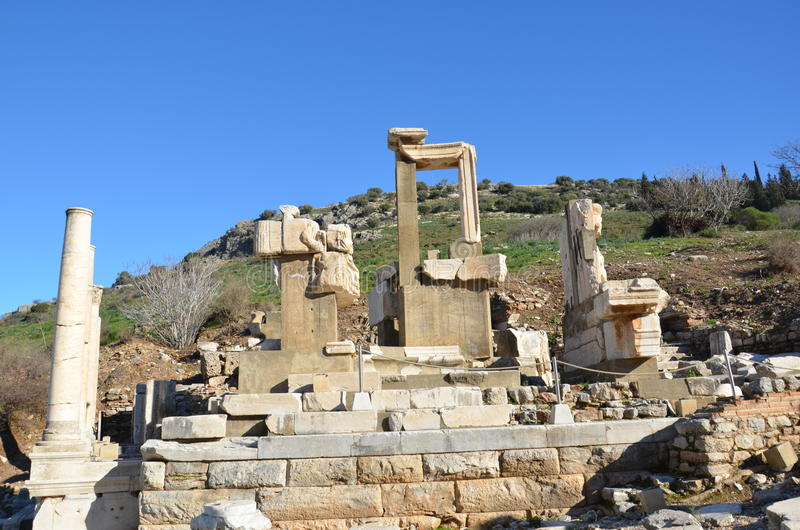 Turkey, Izmir, Bergama in ancient Greek Hellenistic bath, this is a real civilization, baths. Turkey, Izmir, Bergama in ancient Greek Hellenistic marble royalty free stock images