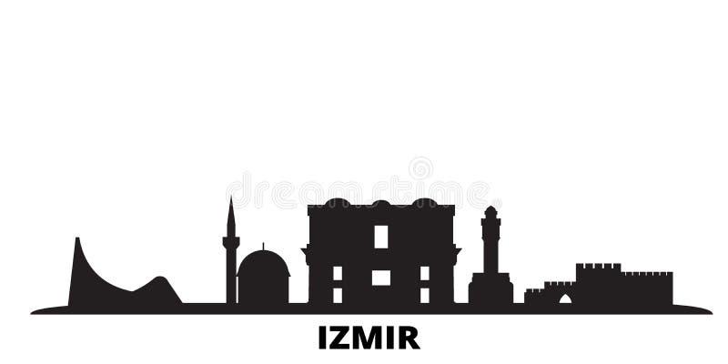 Turkey Izmir City Skyline Isolated Vector Illustration Turkey Izmir Travel Black Cityscape Stock Vector Illustration Of Graphic Destination 165219879