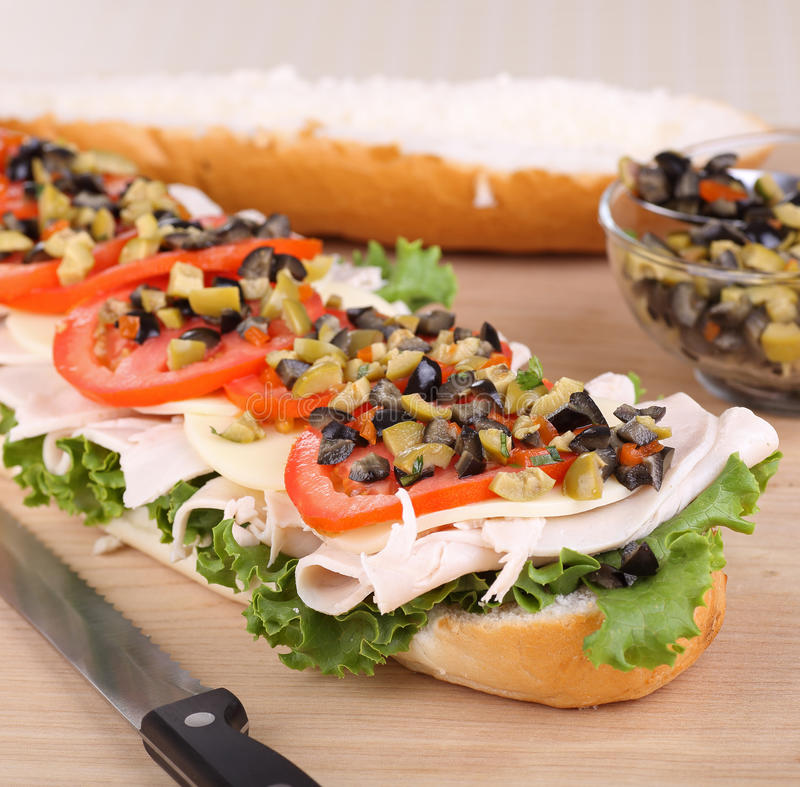 Turkey, Lettuce and Tomato Sandwich stock images