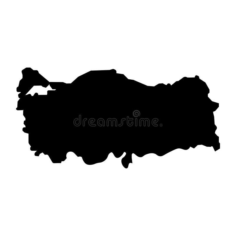 Turkey map filled black color sign. Eps ten vector illustration