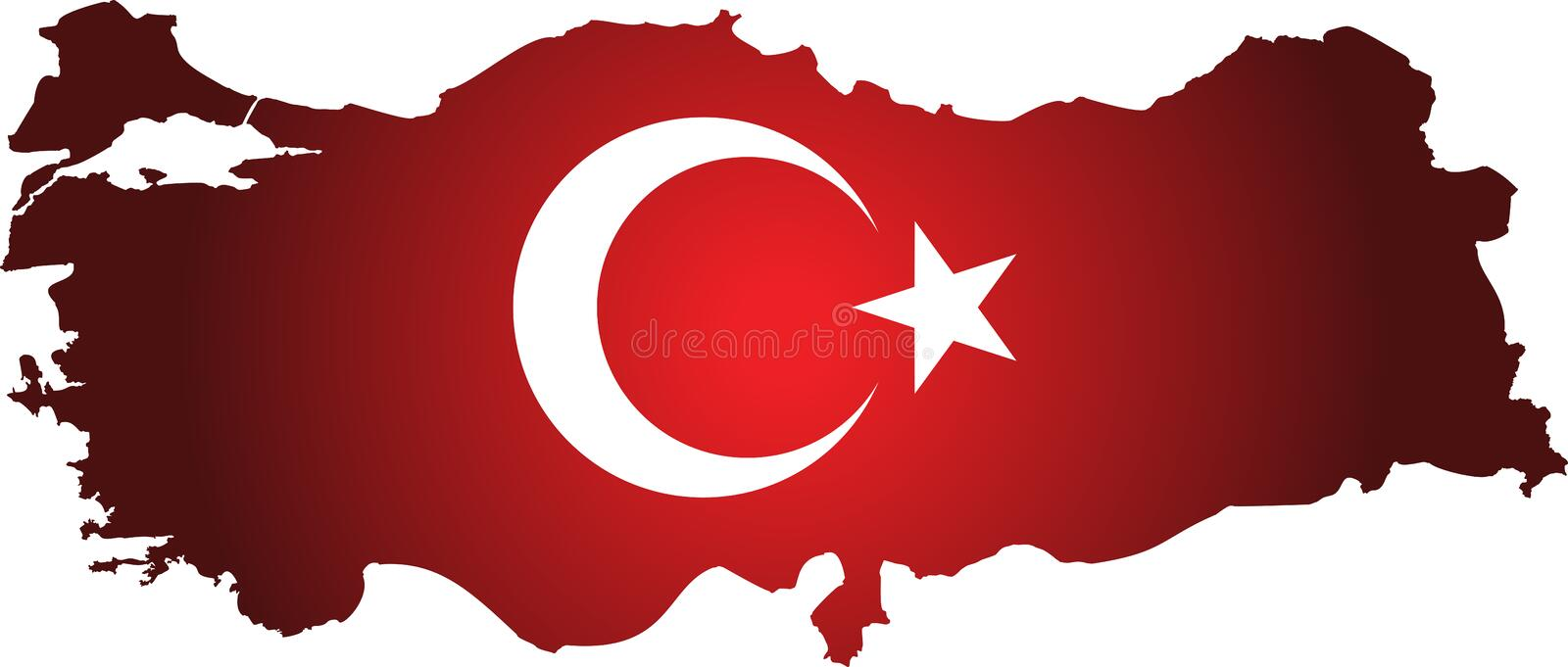 High detailed vector map turkey. royalty free illustration