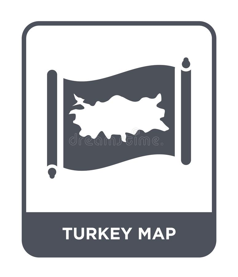 Turkey map icon in trendy design style. turkey map icon isolated on white background. turkey map vector icon simple and modern. Flat symbol for web site, mobile royalty free illustration