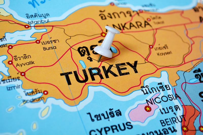 Turkey Map Stock Photo Image Of Destination Ankara - Turkey map