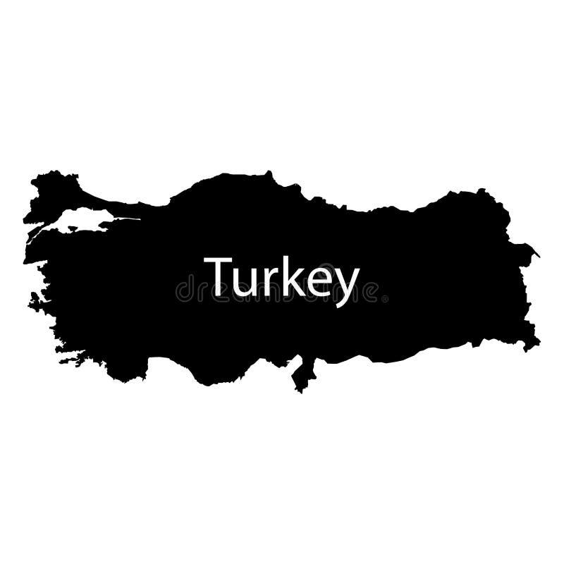 Turkey map sign. Ankara Black sea sign. Eps ten vector illustration