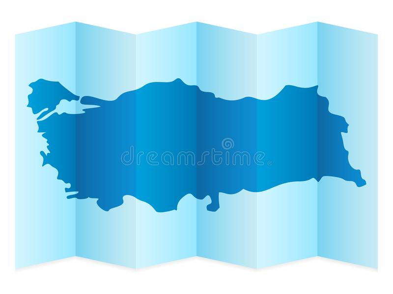 Turkey map stock vector Illustration of country geography 107859249