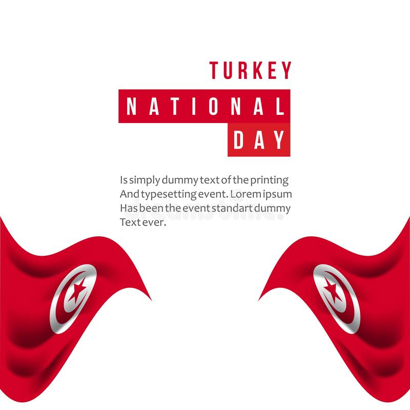 Turkey National Day Vector Template Design Illustration vector illustration