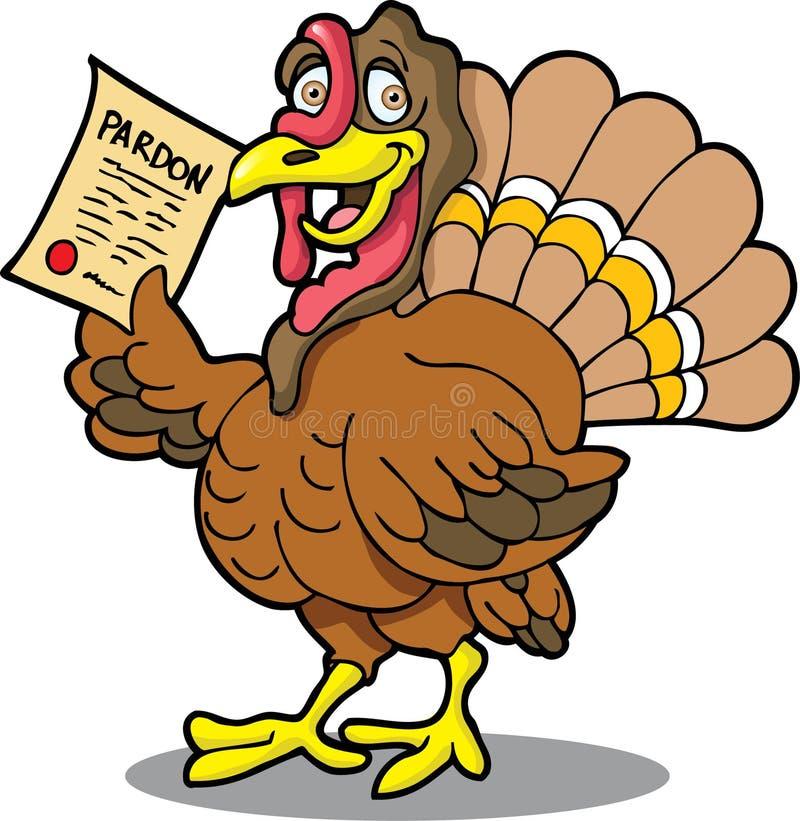 Turkey with Pardon stock photography