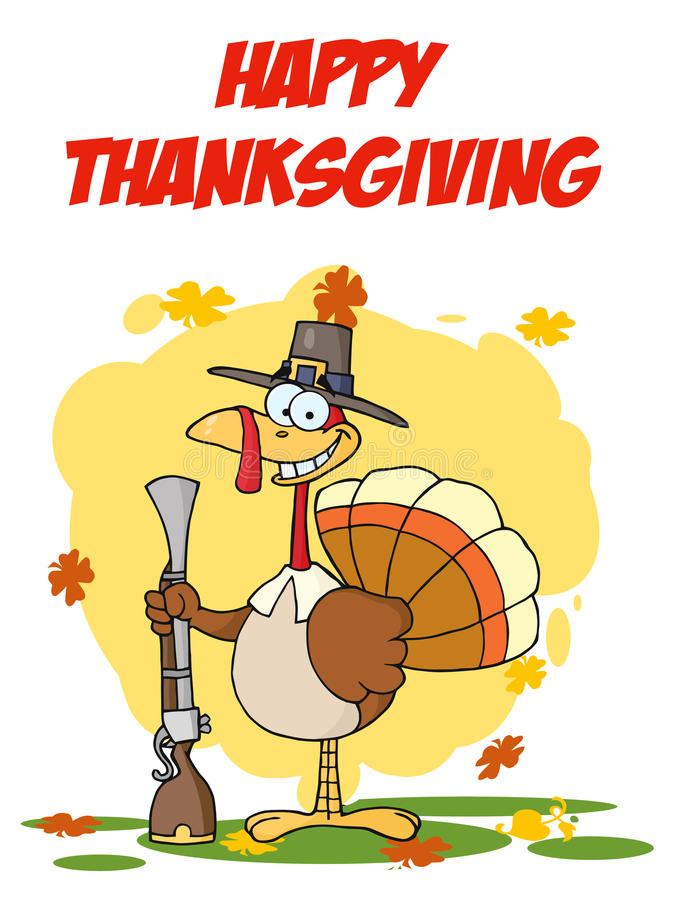 Download Turkey With Pilgrim Hat And Musket Stock Vector - Image: 17263822
