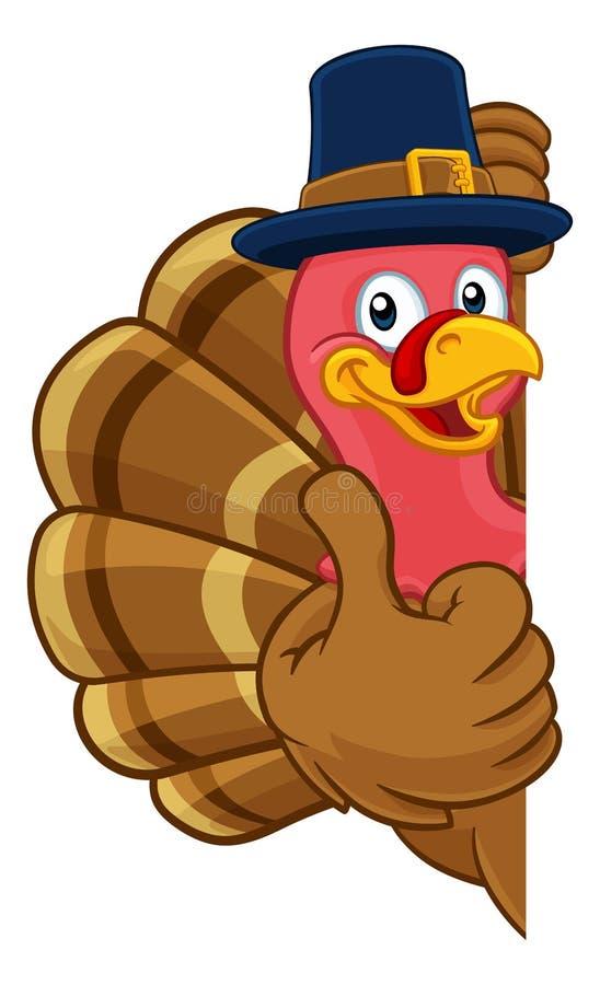 Free Turkey Pilgrim Hat Thanksgiving Cartoon Character Royalty Free Stock Photo - 148698315