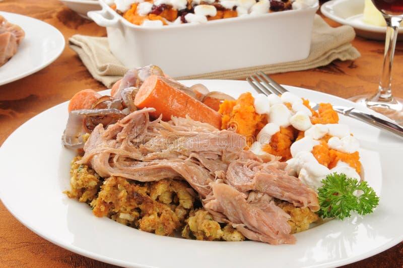 Turkey pot roast with dressing stock photos
