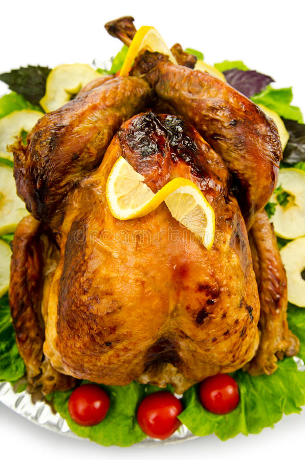 Turkey Roasted And Served Royalty Free Stock Photo