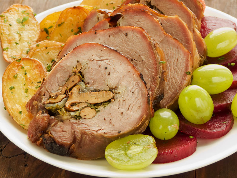 Download Turkey roulade stock photo. Image of food, green, gourmet - 21231244