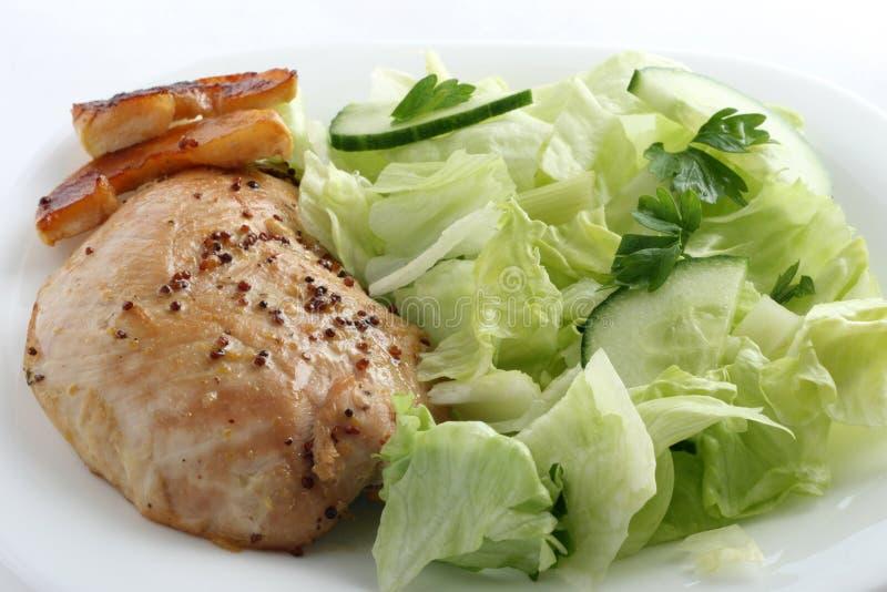 Turkey with salad stock photos