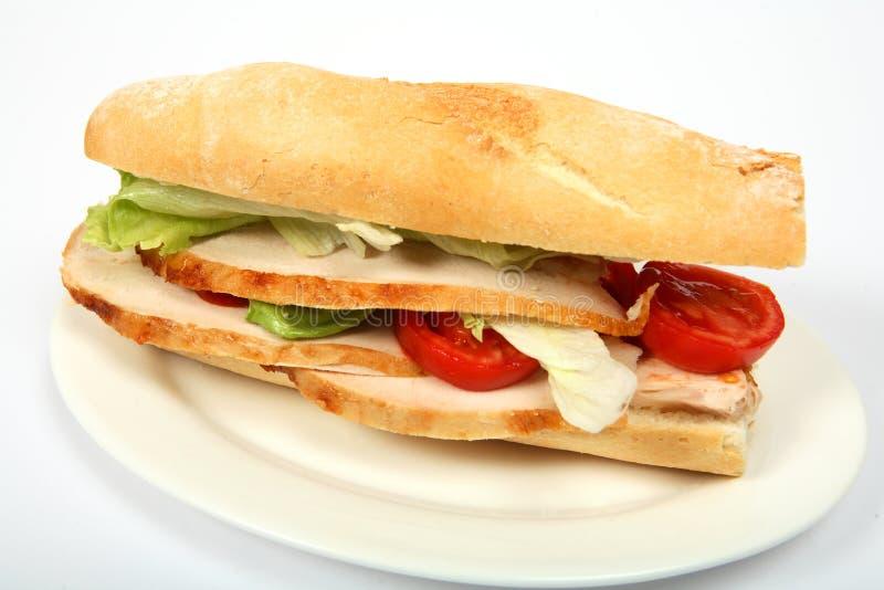 Turkey salad roll royalty free stock image
