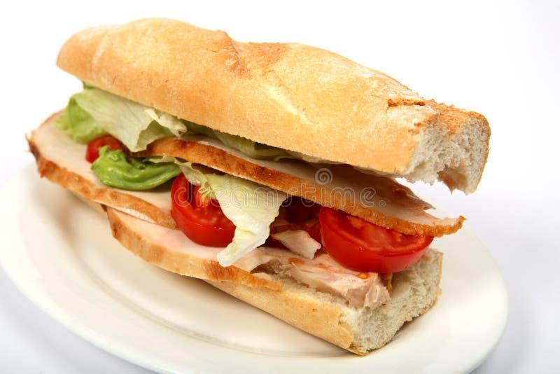 Turkey sandwich stock image