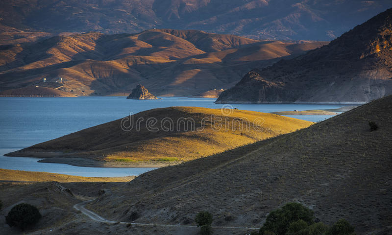 Turkey Tunceli. Tunceli Turkey island in the middle of the dam royalty free stock images