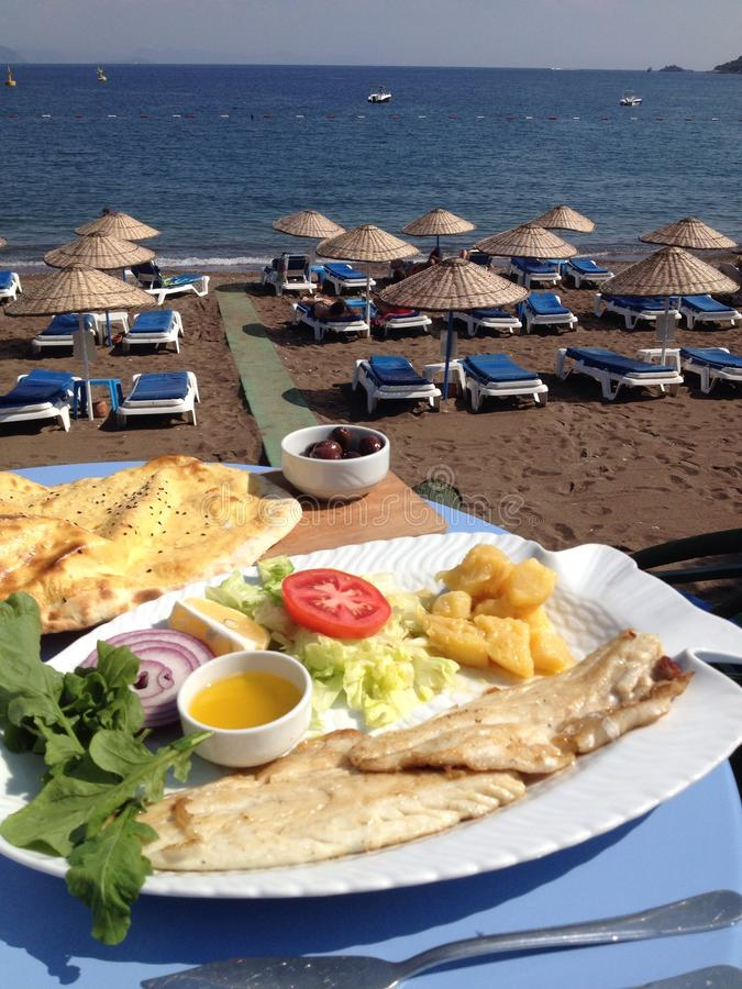 Turkey Turunc Harbour Local Fish Food royalty free stock image