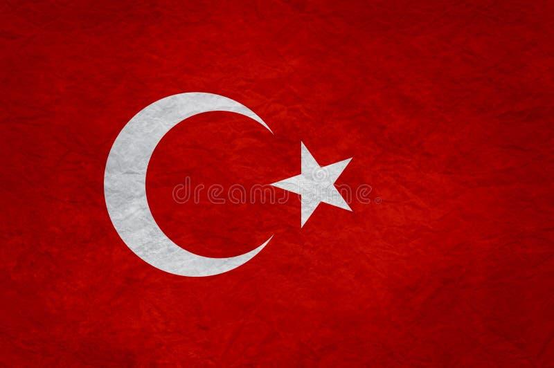 Turkiet grungeflagga vektor illustrationer