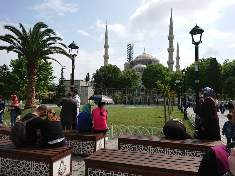 Turkiet istanbul moské Sultan Ahmet arkivfoto