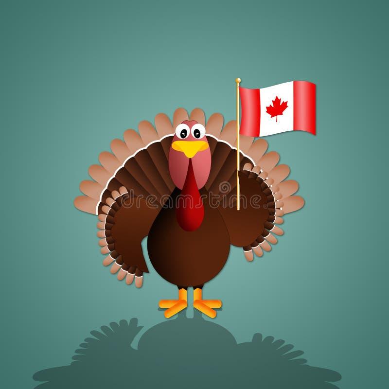Turkiet med Kanada flagga för tacksägelse