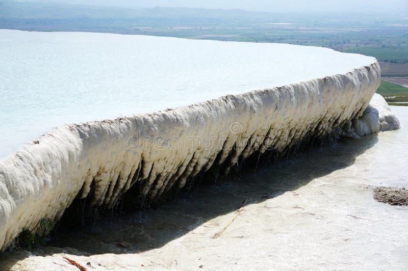 Turkiet - pamukkale (bomullsslottet)   arkivfoto