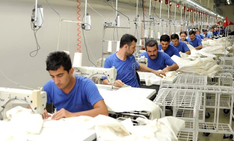 Turkiet textilsektor arkivfoton