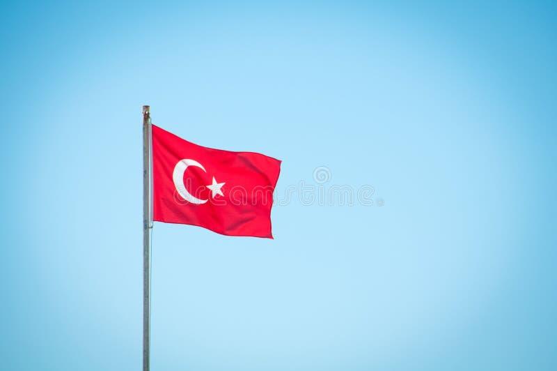Turkije. De vlag van het land is een nationaal symbool royalty-vrije stock afbeeldingen