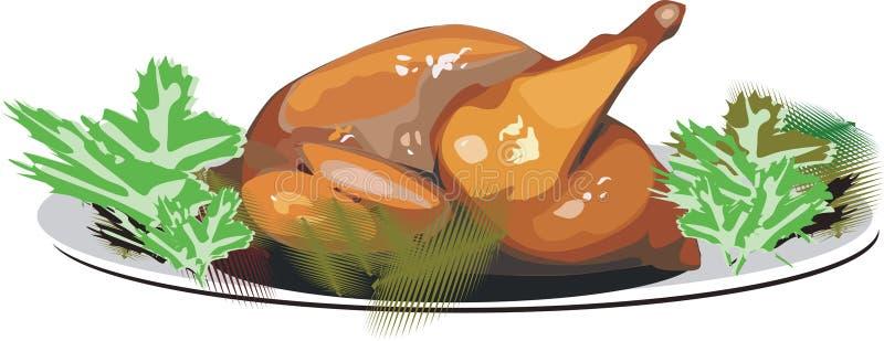 Turkije-haan stock illustratie