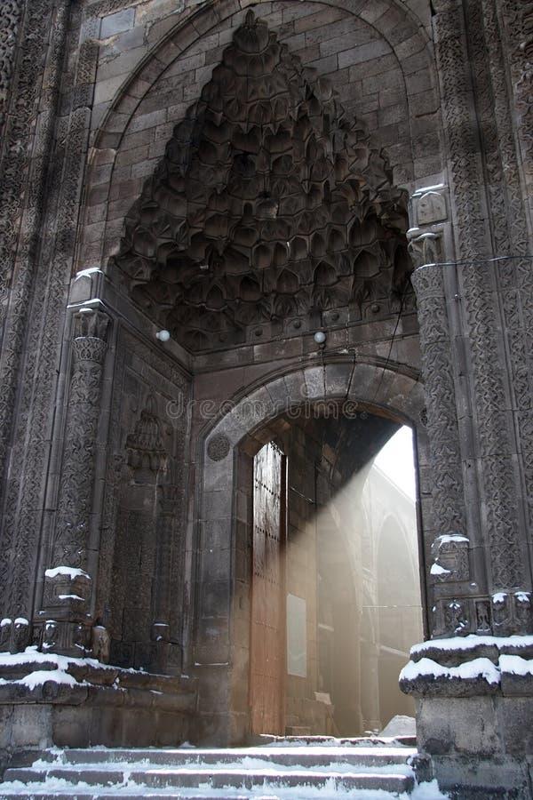 turkish мечети света входа луча стоковые фотографии rf