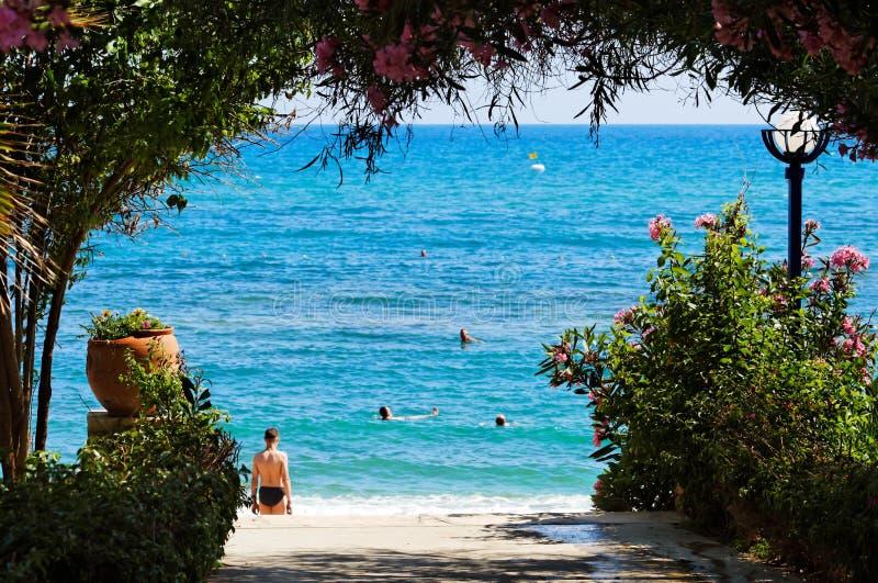 turkish пляжа стоковые фотографии rf
